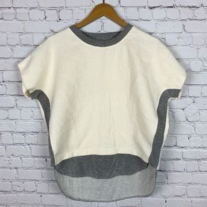 MADEWELL Short Sleeve Contrast Top S